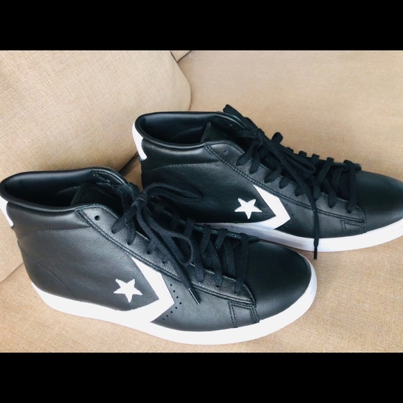 Converse Shoes | Black Leather High
